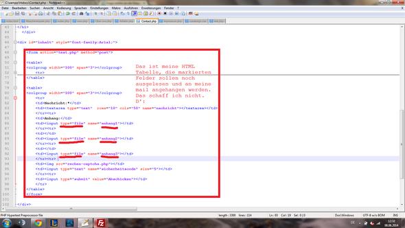 HTML Code - (html, Datei, Kontakt)