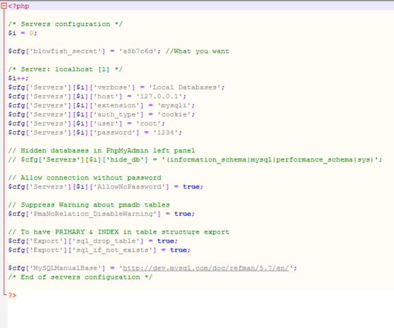 config.inc - (html, CSS, PHP)