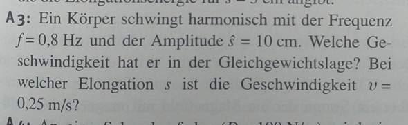 Physik - Aufgabe - Harmonische Schwingung?