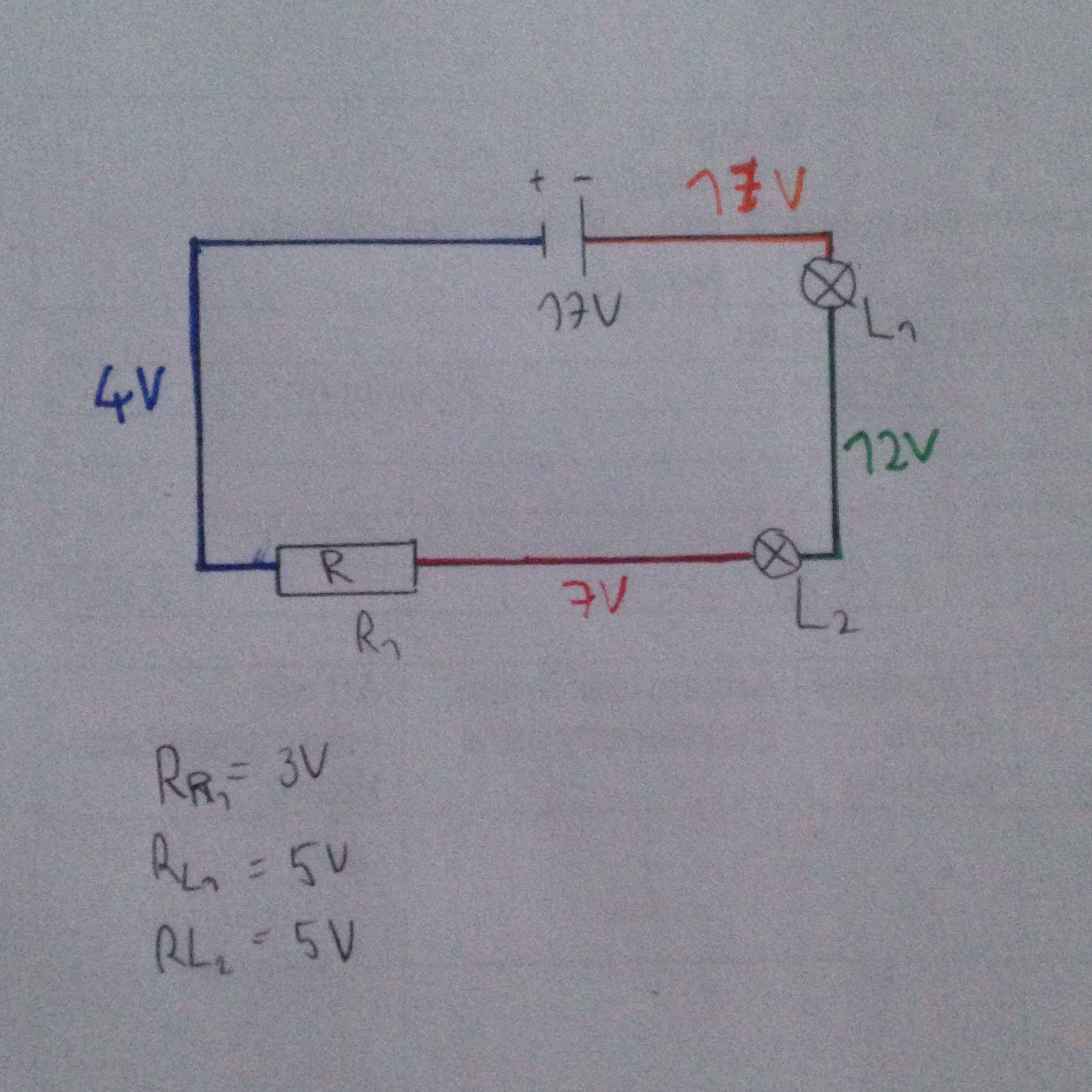 Physik - E-lehre: Schaltplan richtig? Stromstärke-Widerstand ...