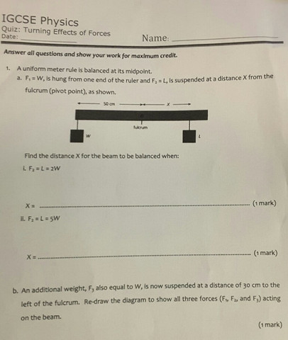 Blatt 1 - (Englisch, Physik)