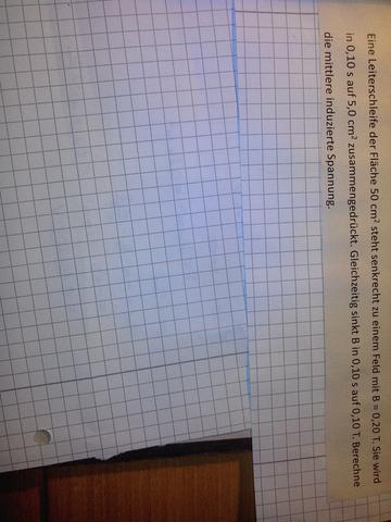 Hier das Bild von der Aufgabe ;)  - (Schule, Physik, induzierte Spannung)