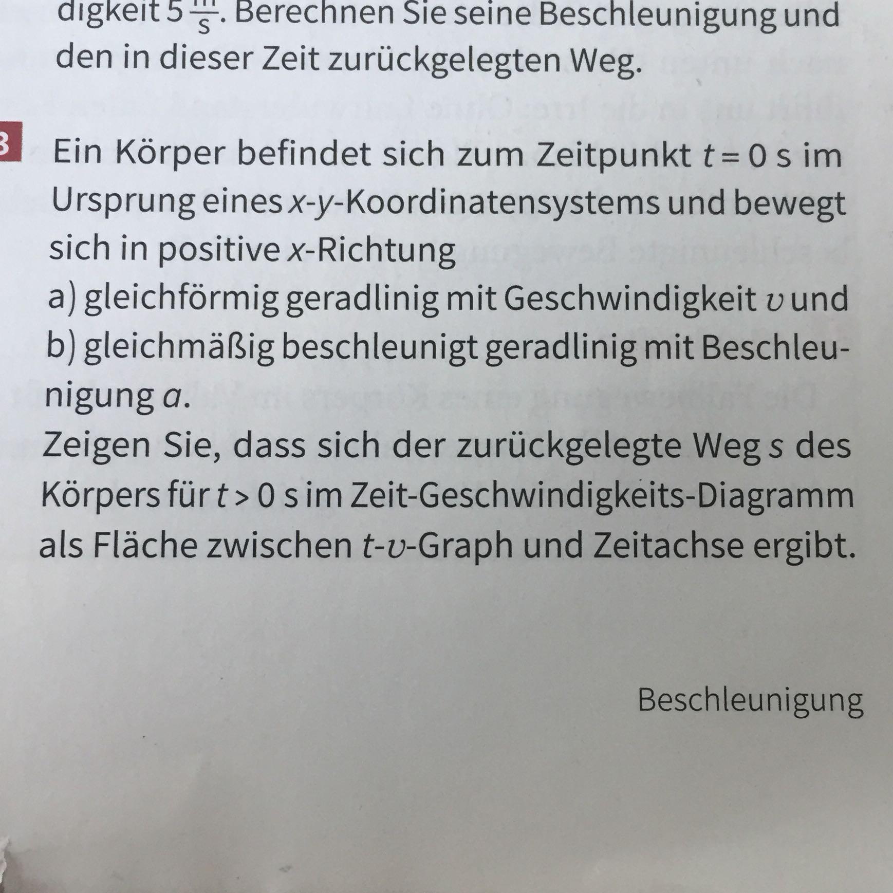 Physik Hilfe t v Diagramm? (Schule, TV, Zeit)