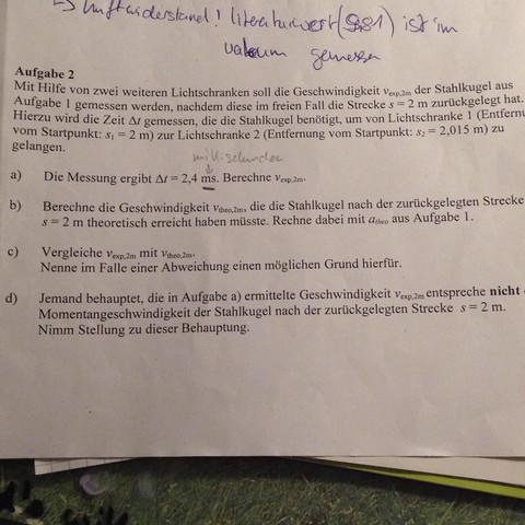 Aufgabe 2b - (Physik, beschleunigung, klasse 10)