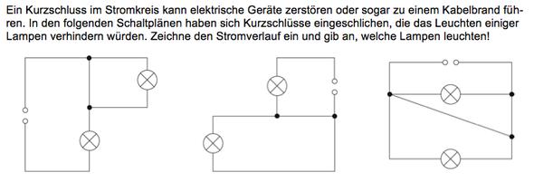 Physik Kurzschuss - Schaltplan? (Schule, Elektronik, Strom)