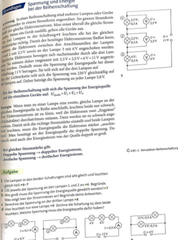 Physik Reihenschaltung?