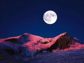 Mond über der Erde - (Physik, Geschwindigkeit, Mond)