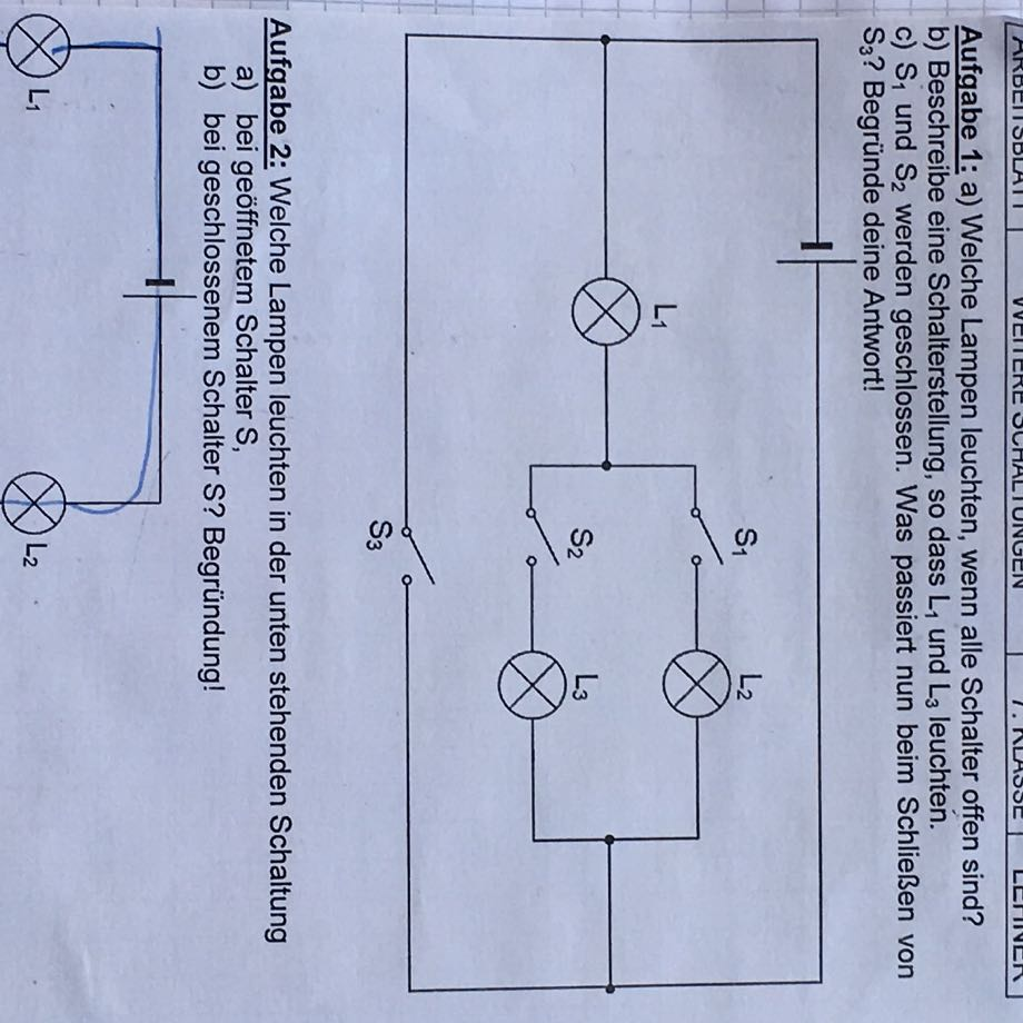 Physik Stromkreis Schaltungen? (Schule, Strom, Naturwissenschaft)