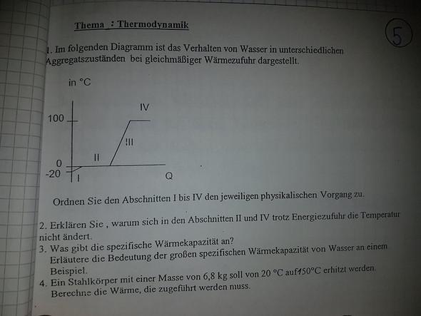 Physik Thermodynamik, Verhalten von Wasser in unterschiedlichen ...