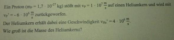 Die Aufgabe - (Physik, Gymnasium, Formel)