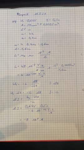 Physikaufgabe Induktion und Stromstärke?