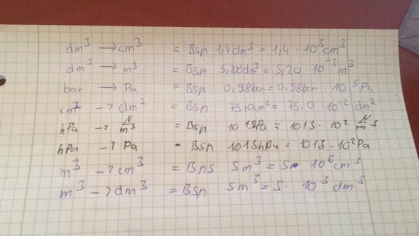 Umrechnungszahlen - (Mathe, Physik, Volumen)