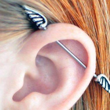Zum Beispiel hier - (Piercing, Ohr)