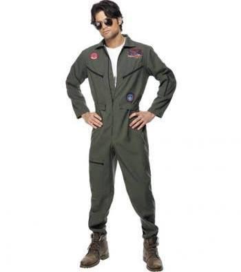 Top Gun Overall, für Männer - (Kostüm, Fasching, Pilot)