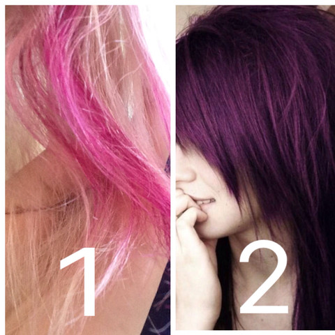 Pink Blonde Haare Dunkel Violett Machen Mädchen Beauty