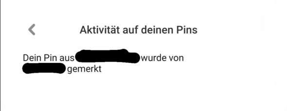 """Pinterst: """"Pin wurde von [...] gemerkt""""?"""
