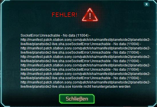 Fehlermeldung - (installieren, Planetside2)