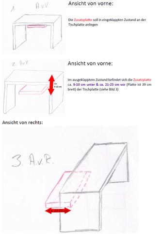 Platte an schreibtischplatte befestigen handwerk holz for Schlafzimmerschrank tiefe