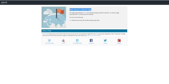Web Server's Default Page - (Webseite, Webspace, Standard)