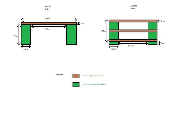 podest bett aus kallax funktioniert das gewicht m bel. Black Bedroom Furniture Sets. Home Design Ideas