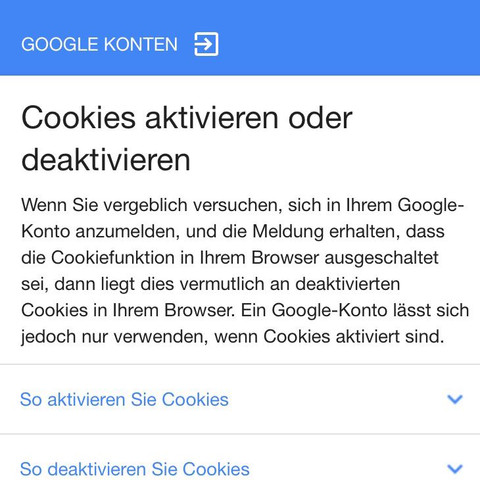 Anmeldung Fehlgeschlagen Gmail