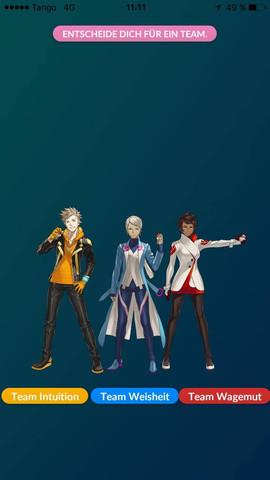 Pokemon GO. Teamentscheidung - (Pokemon, Entscheidung, Team)