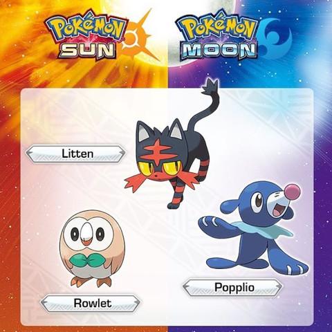 Auf deutsch: Feuer: Flamiau  Pflanze/Flug!!!: Bauz  Wasser: Robball  - (Spiele, Games, Pokemon)
