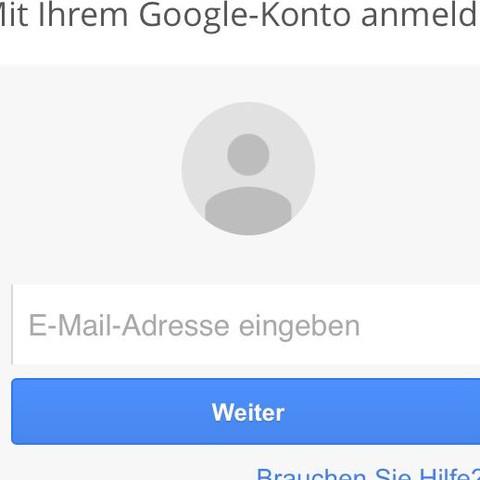 "nach dem Klick auf ""Google"" - (iPhone, App, Google)"