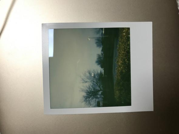 Polaroid-Foto etwas grünlich geworden. Wo liegt das Problem?
