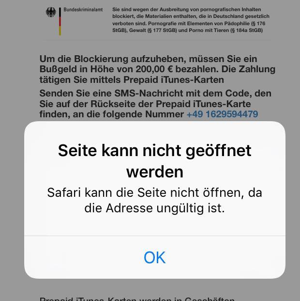 Police Block Iphone Geht Nicht Weg