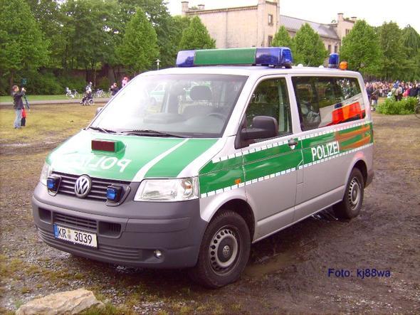 Polizeiauto : VW T5 - Für was ist das rote Ding auf der Motorhaube?