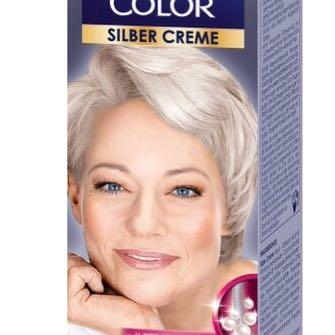 polycolor silbercreme auf braune haare haarfarbe. Black Bedroom Furniture Sets. Home Design Ideas