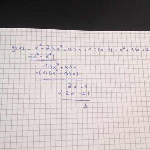 Aufgabe - (Mathe, polynomdivision, polynom)