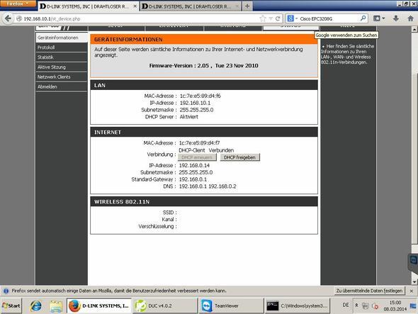 Status von DIR 600 - (Computer, PC, Internet)