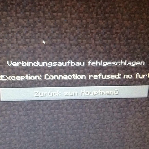java.net.ConnectException: Connection refused: no further information - (Internet, Minecraft, Server)