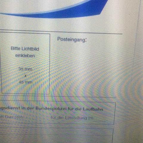 posteingang auf bewerbungsbogen der bundespolizei - Bundespolizei Bewerben