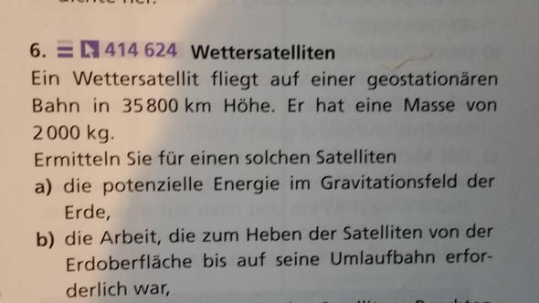 Hier die Aufgabe - (Schule, Physik, Astronomie)