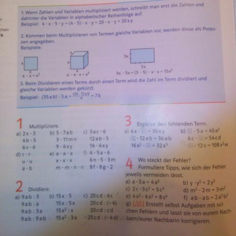 Hier die Buchaufgaben. - (Mathe, potenz, siebte klasse)