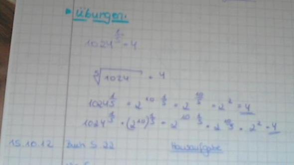 Das ist das Beispiel, so  ist die Schreibweise mit der n-ten Wurzel gemeint ;) - (Mathe, Mathematik, Bruch)