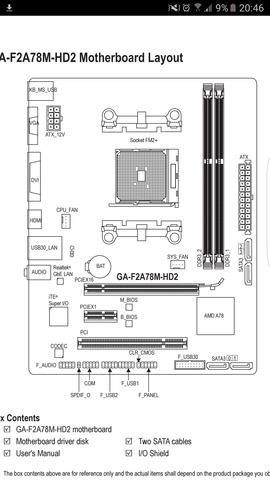 Powerbutton wo am Mainboard gigabyte ga-f2a78m-hd2