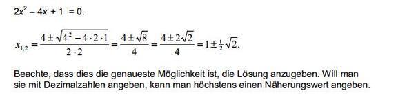 Die Lösung - (Mathe, Gleichungen, SIDO)