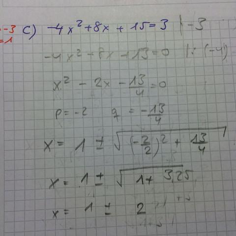 Bild zur Aufgabe. Lösung -3 und 1 - (Schule, Mathe, Mathematik)