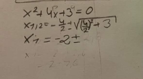 Pq Formel ungleich?