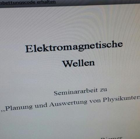 Präsentation Deckblatt Vortrag