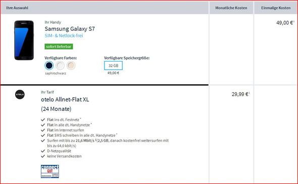 Screenshot vom Vertrag - (Handy, Online-Shop, Handyvertrag)