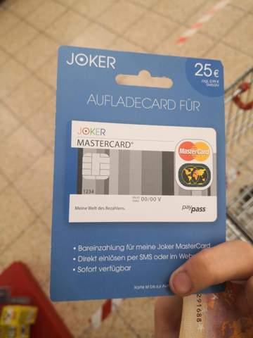 Joker Mastercard Aufladekarte Netto
