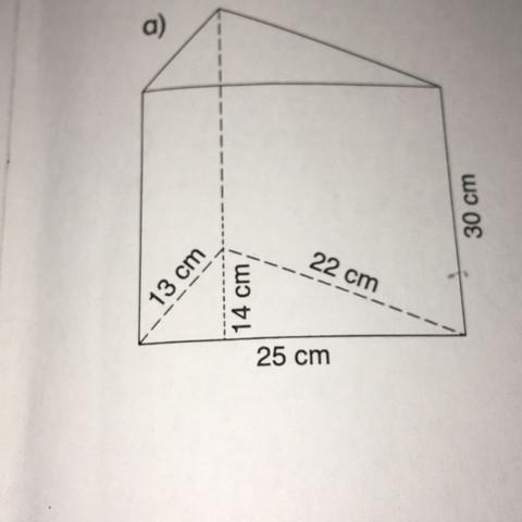 Was ist hier die Höhe? Und was die Körperhöhe Ist 25cm die Grundseite? - (Schule, Mathe, Volumen)