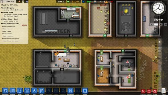 Zeigt die grauen Räume - (Räume, prison architect, blockierte Räume)