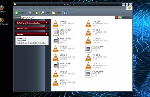 Die Dateien auf der CD - (CRC-Prüfung, VOB-Dateien, Kann nicht kopieren)
