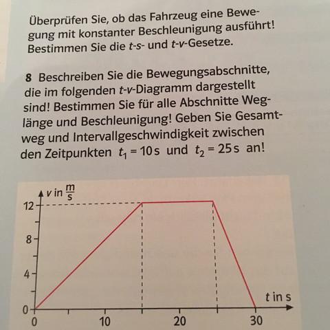 Problem bei Physik Hausaufgaben zum Thema Bewegung...? (Schule)